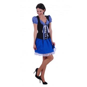 0c2ed58a7fdff2 Tiroler Jurk Monika Blauw ☆ Groot aanbod van feestkleding en feest artikelen  ☆