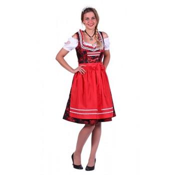 d727922e5ba677 Dirndl Jurk Elisabeth Rood-Zwart ☆ Groot aanbod van feestkleding en feest  artikelen ☆