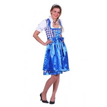 0565ed6371df0b Dirndl Jurk Lene Blauw-Wit OP OP ☆ Groot aanbod van feestkleding en feest  artikelen ☆