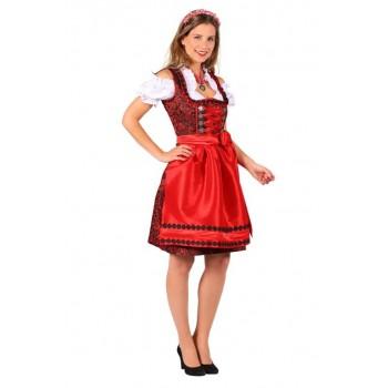 8a4a406abfe275 Dirndl Jurk Nadina Zwart-Rood ☆ Groot aanbod van feestkleding en feest  artikelen ☆