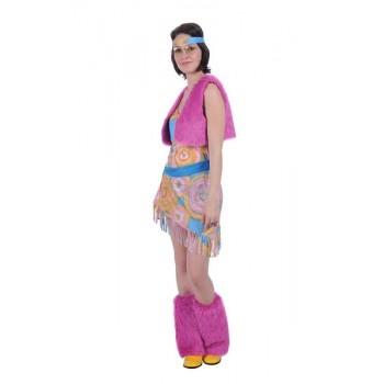 4f12c79719c Hippie dame jurk riem hoofdband beenwarmers ☆ Groot aanbod van feestkleding  en feest artikelen ☆