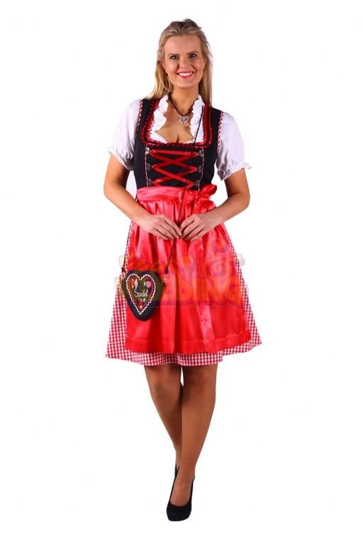 f9e2f54f1d1 Dirndl Jana Rood Zwart Luxe ☆ Groot aanbod van feestkleding en ...