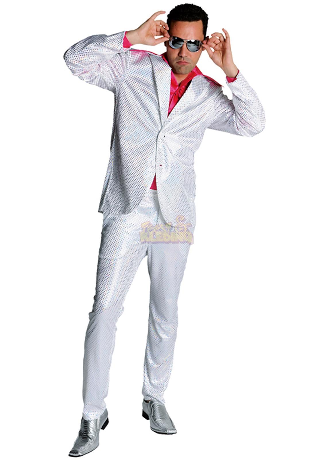59b7dcedb307a1 Disco Glitter pak Zilver ☆ Groot aanbod van feestkleding en feest ...