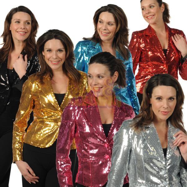 Glitter jas goud zilver dames ☆ Groot aanbod van