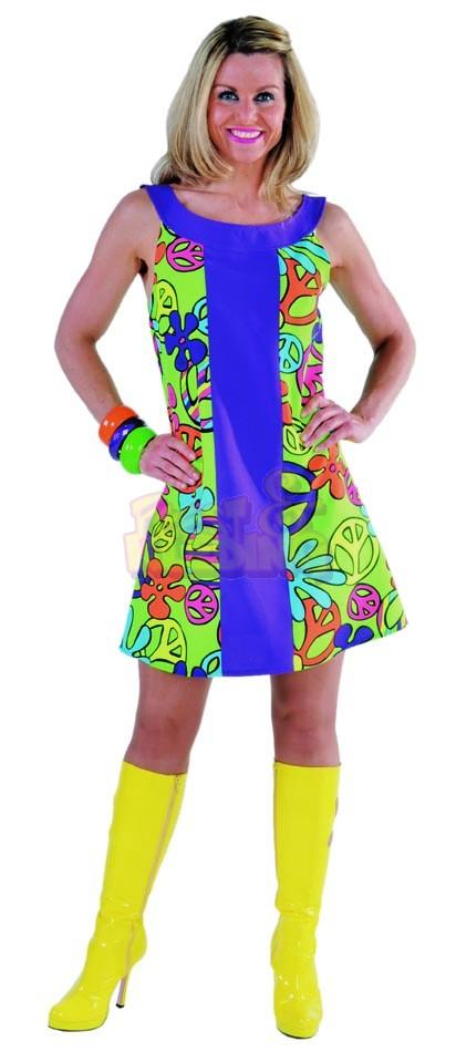 eb88aeee8d8b25 Peace Hippie Jurk ☆ Groot aanbod van feestkleding en feest artikelen ☆