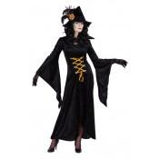 Heksenjurk Mortica Zwart