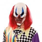 Duivelse Horror Clown met lang haar masker