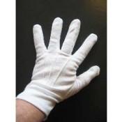 Witte handschoenen kort