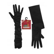 Lange zwarte handschoenen 56 cm