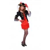 Piratenbruidje rood-zwart