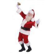 Kerstmanpak polyesterfluweel luxe