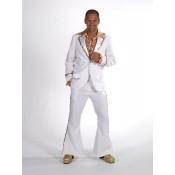 Kostuum wit goud