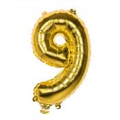 Folieballon Goud 9 - 36 cm