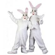 Konijn / haas pluche kostuum wit