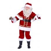 Kerstmanpak fluweel luxe