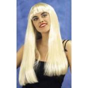 Ponypruik blond, lang