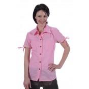 """Damesblouse """"Gabi"""" pink-wit"""