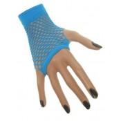 Nethandschoenen Fluor Blauw