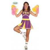 Cheerleader Pakje Paars-Geel USA