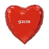Folie Ballon Rood Hart XL - 92 cm