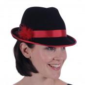 Tiroler dameshoed zwart-rood luxe
