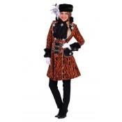 Carnavalsjas Zebra gevoerd met Bont Oranje