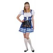 Tiroler Jurk Helena Blauw