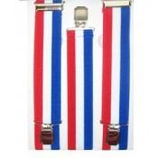 Bretels rood-wit-blauw