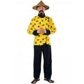 Chinees Kostuum Geel m Zwart