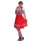 Dirndl jurk Lena Blauw-Rood Luxe