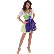 Dirndl Lime Purple Luxe