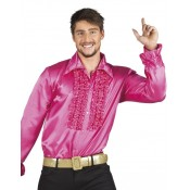 Roze Discoblouse met Ruches