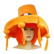 Oranje hoed met tassels