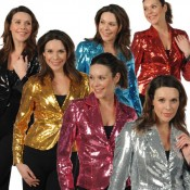 Glitter jas goud / zilver dames