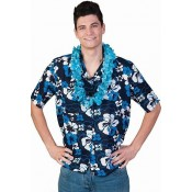 Hawaii Blouse Blue Flowers