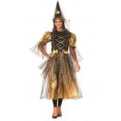 Heks / Fee goud met hoed