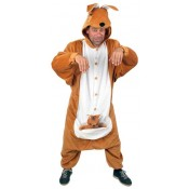 Kangoeroe pak met buidel en jong