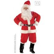Kerstmanpak met baard en pruik