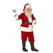 Kerstmanpak fluweel