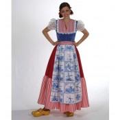 Hollandse jurk lang Delfts Blauw
