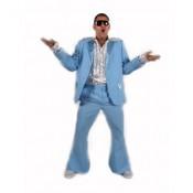 Kostuum 70's lichtblauw