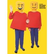 Meneer Blokhoofd Lego kostuum