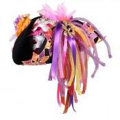 Carnavalshoed Luxe Roze Wit
