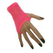 Nethandschoenen Fluor Roze