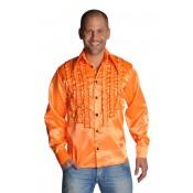 Oranje blouse luxe