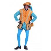Piet Amsterdam met cape Geel Turquoise