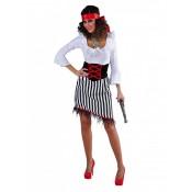 Piraat dame gestreept AANBIEDING!
