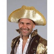 Piratenhoed wolvilt goud