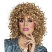 Pruik Club blond krullend