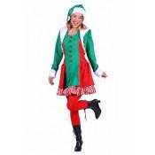 Elf dame Santa's Helper Groen Rood
